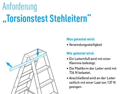 Arbeitssicherheit bei Leitern geht vor!